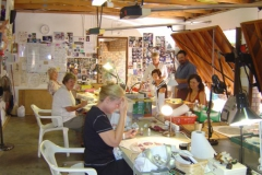 Tuesday Glass Escapes class enjoy a morning of glass art