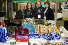 Hand made glass art by us gals - Tshwane exhibition