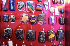 Necklaces, pendants, earrings - all available from Glass Escapes