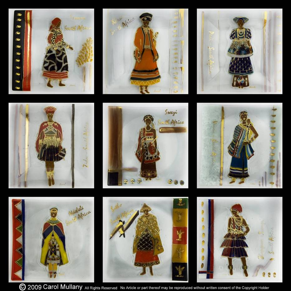 9 Tribal Ladies by Carol Mullany